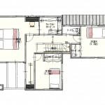 新潟市東区海老ケ瀬新町の土地(区画8)の建物プラン例の2階間取り図