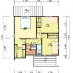 新潟市東区紫竹の土地の建物プラン例の2階間取り図