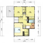 新潟市西区金巻の土地の建物プラン例の2階間取り図