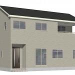 五泉市旭町の新築住宅2号棟の外観完成予定パース