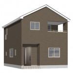 新潟市西区五十嵐の新築住宅4号棟の4号棟外観完成予定パース