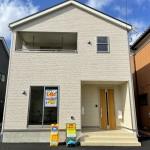 新潟市東区浜谷町の新築住宅1号棟の外観写真