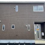新潟市東区浜谷町の新築住宅3号棟の外観写真