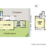 三条市塚野目6丁目の新築住宅3号棟の間取り図(3号棟)