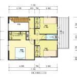 新発田市西園町の【土地】の建物プラン例の2階間取図