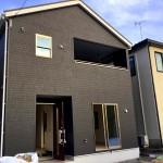 新潟市東区秋葉の新築住宅3号棟の外観写真
