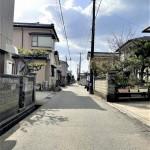 新潟市東区浜谷町の新築住宅の前面道路