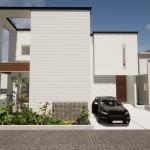 新潟市東区海老ケ瀬新町の土地(区画8)の建物プラン例の外観パース