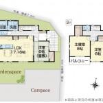 三条市塚野目6丁目の新築住宅8号棟の間取り図(8号棟)