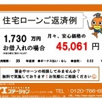 新潟市秋葉区金沢町の【新築住宅】の住宅ローン返済例