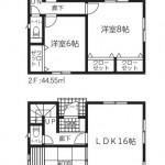 新潟市東区浜谷町の新築住宅4号棟の間取図