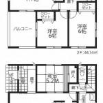 新潟市西区五十嵐の新築住宅3号棟の間取図