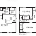 新潟市東区浜谷町の新築住宅3号棟の間取図