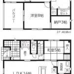 新潟市東区秋葉の新築住宅3号棟の間取図