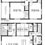 五泉市旭町の新築住宅1号棟の間取図