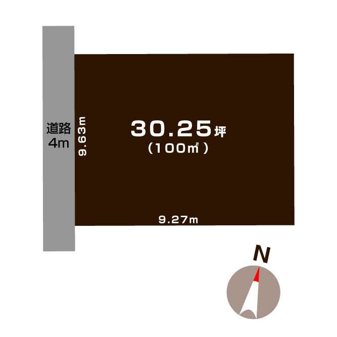 新潟市東区秋葉通の【土地】の敷地図