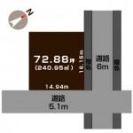 新潟市江南区曽野木の【土地】不動産情報の敷地図