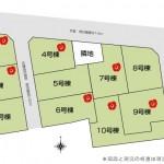 三条市塚野目6丁目の新築住宅の全体区画図