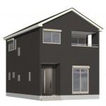 新潟市中央区南笹口2号棟の新築住宅の外観完成予定パース