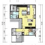 新潟市中央区鳥屋野の土地の建物プラン例の1階間取り図