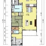 新発田市舟入町2丁目の土地の建物プラン例の1階間取り図