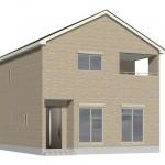 新潟市中央区南笹口1号棟の新築住宅の外観完成予定パース