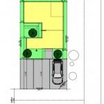 新潟市中央区鳥屋野の土地の建物プラン例の配置図