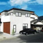 新潟市西区小針の中古住宅の外観パース