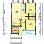 新発田市舟入町2丁目の土地の建物プラン例の2階間取り図