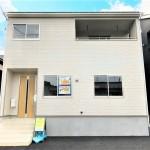 新潟市北区松浜新町の新築住宅1号棟の外観