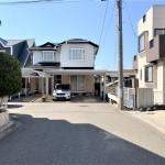 新潟市西区小針の中古住宅の前面道路