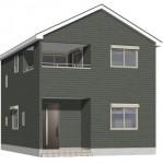 東区北葉町の新築住宅の外観完成予定パース