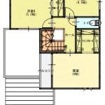 2新発田市舟入町の【土地《全3区画》】のセットプラン例の2階間取図