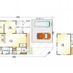 新潟市北区つくし野の【中古住宅】の間取図