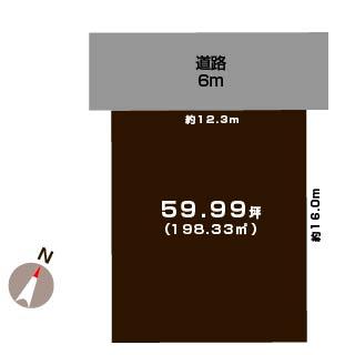 新潟市西区坂井の【土地】不動産情報の敷地図