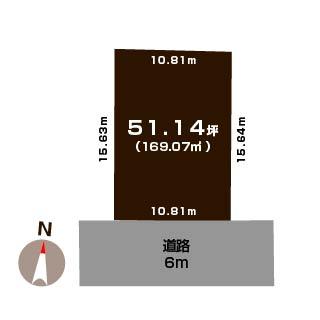 胎内市中条の【土地】不動産情報の敷地図