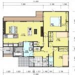 新発田市豊町3丁目の土地の建物プラン例の1階間取り図