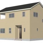 新潟市西区西小針台の新築住宅2号棟の外観完成予定パース