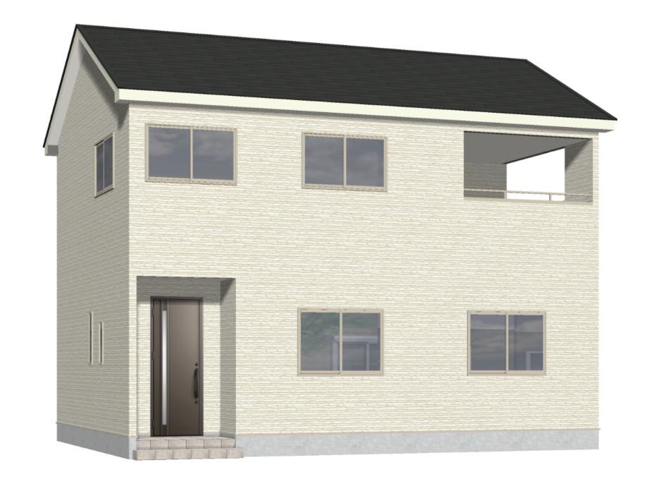 新潟市西区内野西第1の新築住宅の外観完成予定パース