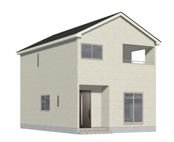 新潟市北区早通北の新築住宅1号棟の外観完成予定パース