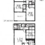 新潟市西区内野西第1の新築住宅の間取図