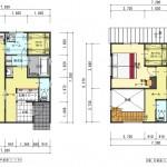新潟市江南区城所の【分譲地】区画2の建物プラン例の1・2階の間取図