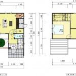 新潟市江南区城所の【分譲地】区画1の建物プラン例の1・2階の間取図