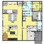 新潟市江南区城所の【分譲地】区画2の建物プラン例の1階間取図