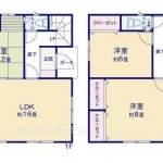 新潟市東区松園の新築住宅の間取図