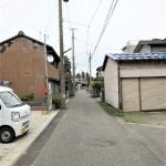 新発田市本町の新築住宅の1号棟前面道路写真