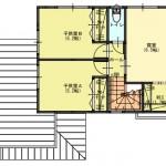 新潟市西区坂井の【土地】の建物プラン例の2階間取り図