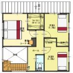 新潟市江南区城所の【分譲地】区画2の建物プラン例の2階間取図