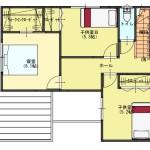 新潟市江南区城所の【分譲地】区画1の建物プラン例の2階間取図
