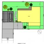 新発田市豊町3丁目の土地の建物プラン例の配置図